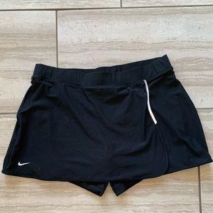 Nike Fit Dry Tennis Skirt w/ Under Shorts - Black